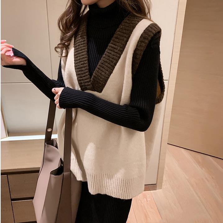 Áo sweater dệt kim cổ tim phong cách hong kong xinh xắn cho nữ - 22521213 , 5907736292 , 322_5907736292 , 206900 , Ao-sweater-det-kim-co-tim-phong-cach-hong-kong-xinh-xan-cho-nu-322_5907736292 , shopee.vn , Áo sweater dệt kim cổ tim phong cách hong kong xinh xắn cho nữ