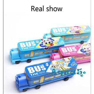 ✿ℛDouble Layer High Capacity Rollable Wheels Comes with Sharpener Multiplication Table Elementary Cute Cartoon