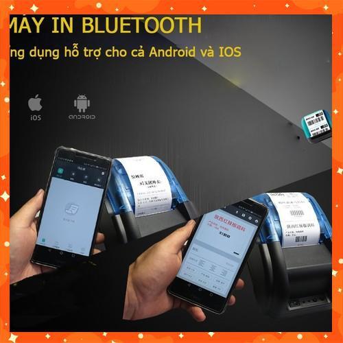 Máy Bluetooth 3 trong 1, in hybrid cả hóa đơn và mã vạch, tích hợp chức năng soi tiền giả, in bill và mã vạch 3-in-1