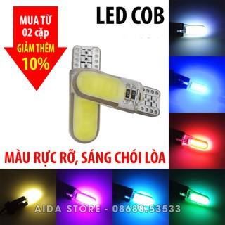 Yêu ThíchCặp (02 bóng) đèn LED demi, xi nhan chân T10 8-12 chip COB