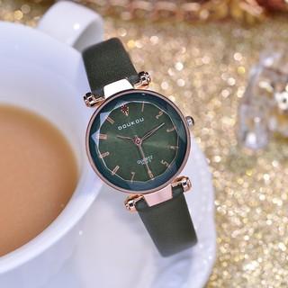 Đồng hồ nữ DOUKOU 71845 mặt vát 3D dây da mềm thumbnail