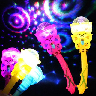 ♞Luminous Stick Magic Projection Wand Rod Flashing Star Light Kids Children Toy