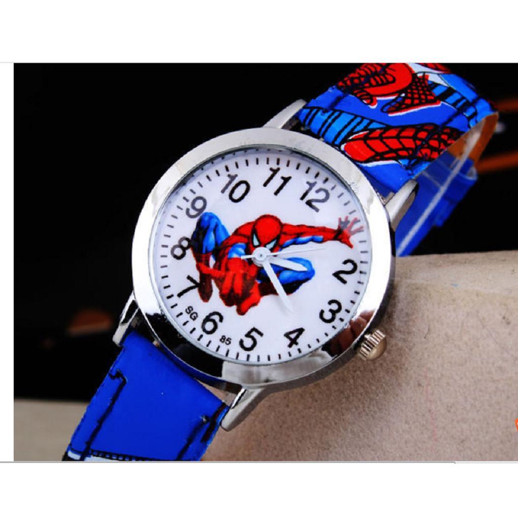 Đồng hồ đeo tay hình người nhện vui nhộn dễ thương cho bé