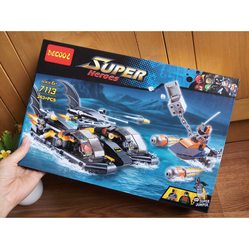 W077780 - 263PCS - Đồ chơi Lego Tàu chiến Batman Super Heroes 7113