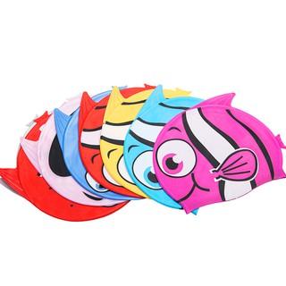 Nón bơi trẻ em, nón bơi cho bé chất silicon chống thấm nước co giãn tốt hình cá đủ màu sắc bơi lội BBShine NB005 thumbnail