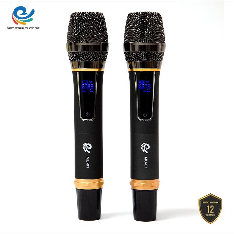 Micro Karaoke, Micro Không Dây MU 01 (2 Mic), Chuyên Dụng Cho Loa, Amply, Đổi Mới Trong 07 Ngày, bảo hành 12 tháng.