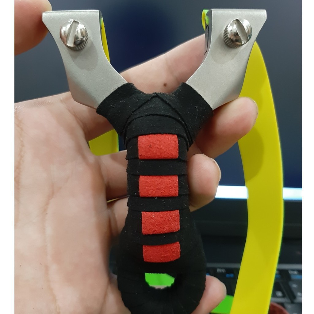 Ná Cao Su Giọt Lệ Chạc Vác – Ná Thun Nguyên Khối Inox 304 Cao Cấp Tặng kèm dây dẹt 2 lớp dày 1mm