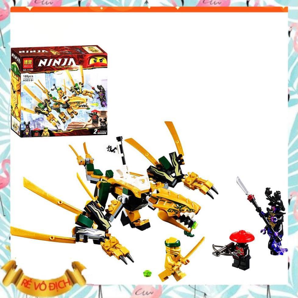 [ ĐỒ CHƠI LEGO GIÁ RẺ ] Lego xếp hình ninjago Rồng Vàng Huyền Thoại 11160 ⚡Ảnh-thật⚡