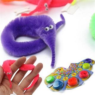 1PC Amazing Magic Trick Twisty Fuzzy Worm Wiggle Moving Sea Horse Kids Toy