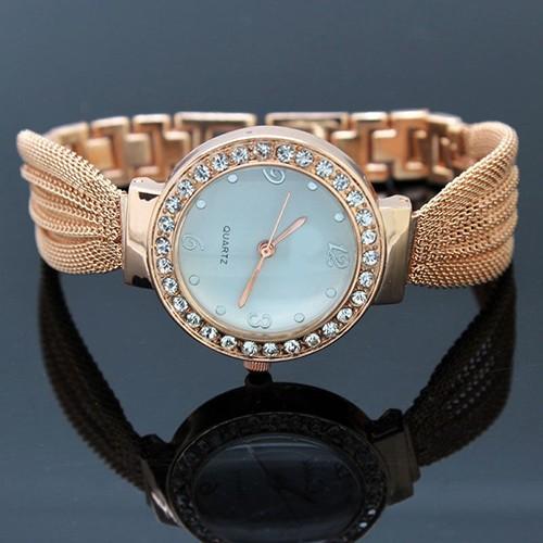 Đồng hồ đính đá kiểu dáng thanh lịch cho nữ