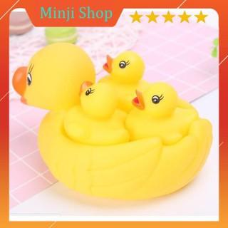 [Shop mới giảm giá] [Mã TOYDEC giảm 10% tối đa 15K đơn từ 50K] Combo 2 Đàn vịt thả bồn tắm 1 mẹ 3 con cho bé MinJiShop