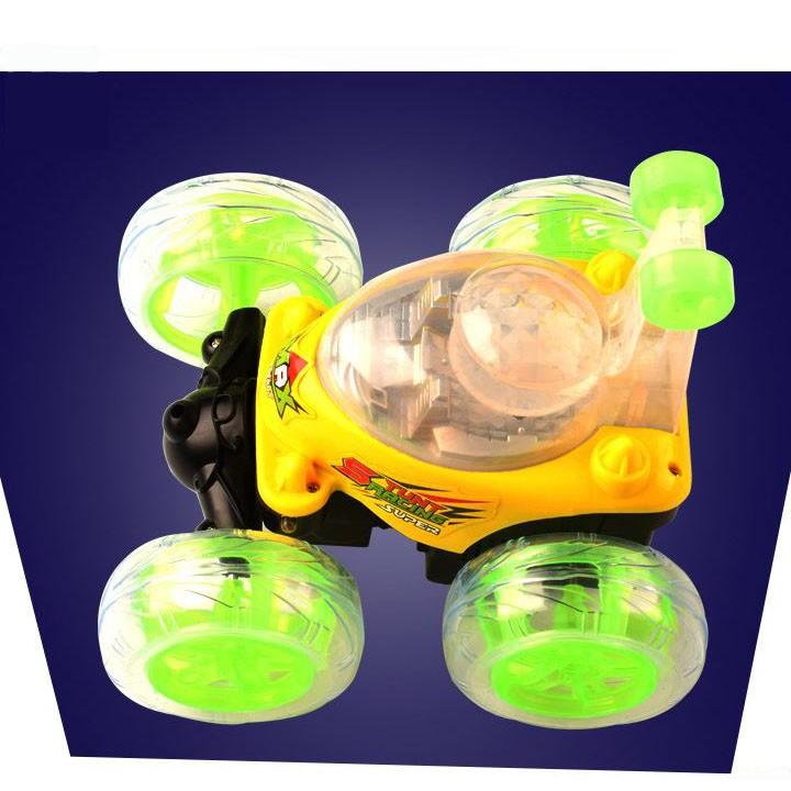 Ô tô điều khiển phát sáng lật 360 độ dành cho trẻ em - AL