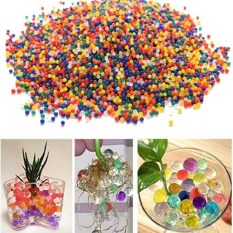 1000Pcs Colorful Water Plant Flower Jelly Soil Crystal Mud Hydro Gel Beads Balls 889