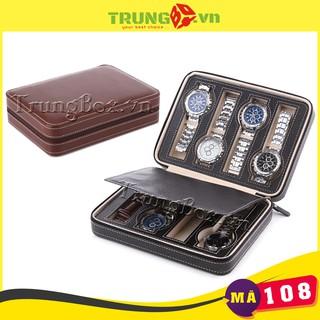 Hộp Đựng Đồng Hồ Du Lịch 8 Ngăn Kiểu Ví Da Tiện Lợi - Mã 108 SAIKE thumbnail