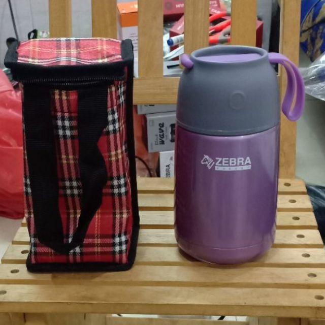 Bình giữ nhiệt Zebra thái lan 650ml+ túi đựng bình