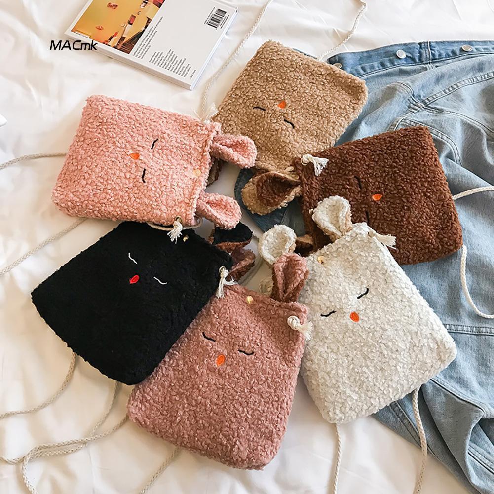 Túi bông đeo chéo hình thỏ dễ thương cho bé gái - 14838087 , 2263620429 , 322_2263620429 , 83000 , Tui-bong-deo-cheo-hinh-tho-de-thuong-cho-be-gai-322_2263620429 , shopee.vn , Túi bông đeo chéo hình thỏ dễ thương cho bé gái