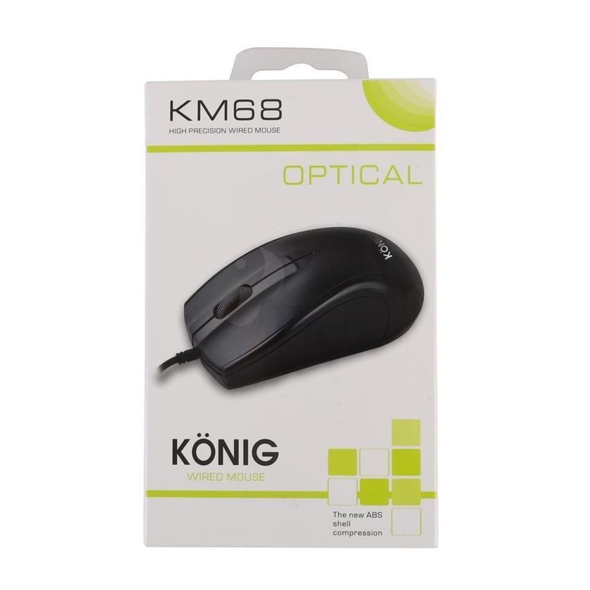 Chuột máy tính có dây KONIG KM68 Giá chỉ 120.000₫