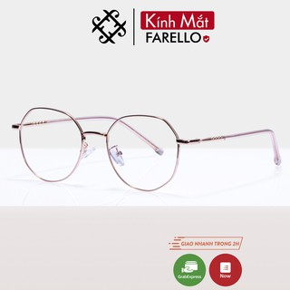 Gọng kính cận nữ kim loại FARELLO mắt đa giác thanh mảnh nhẹ nhàng 29183