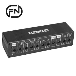 KOKKO Guitar Pedal Power Supply Compact 10ways Safety Voltage Protection