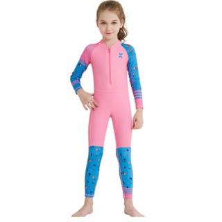 Đồ bơi liền thân dài tay cho bé (ảnh thật) - Đồ bơi chống nắng UPF50