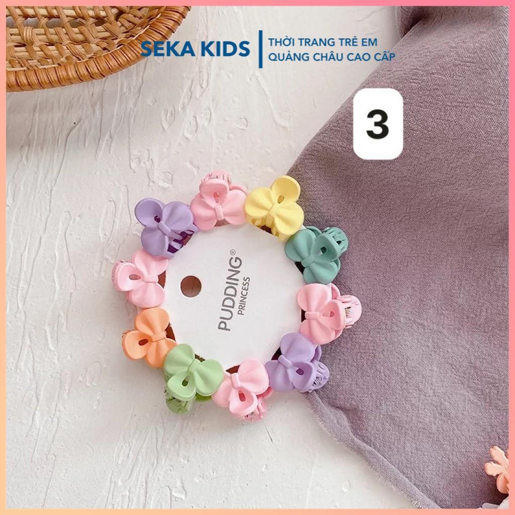 Sét kẹp tóc cho bé gái, set 10 kẹp tóc công chúa mini đủ màu sắc - SEKA 2105.16 CS15