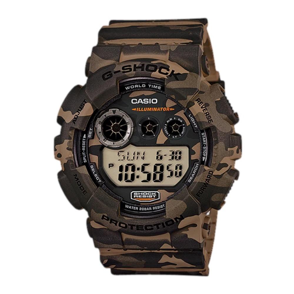 Casio G-Shock GD-120CM-5 Digital Watch Camouflage Sports Wristwatch