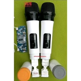 [Mã ELFLASH5 giảm 20K đơn 50K] Micro không dây đôi VHF mạch loa kéo tần số 239.4MHz và 261.8MHz, micro cho loa kéo