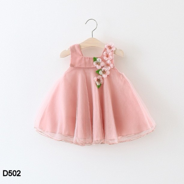 Váy form chữ A cho bé gái D502 (hàng Quảng Châu)