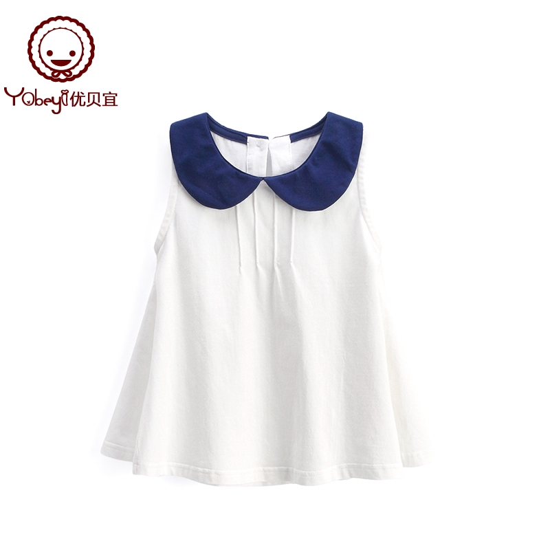 b424585d47f8c ✠YouTube girl sleeveless dress summer children's pure color vest skirt  casual baby foreign gas