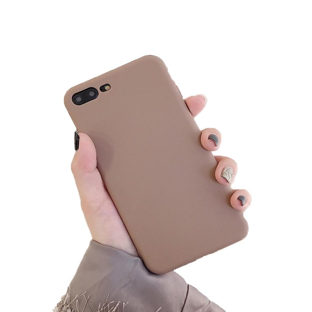 Ốp điện thoại silicon siêu mỏng nhiều màu sắc tùy chọn kiểu dáng dễ thương dành cho iPhone 6/6s/6+/6s+/7/7+/8/8+
