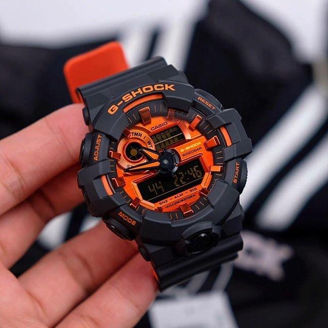 Đồng hồ nam Casio G Shock GA-700BR-1ADR chống nước độ sâu 200m - kính chống va đập