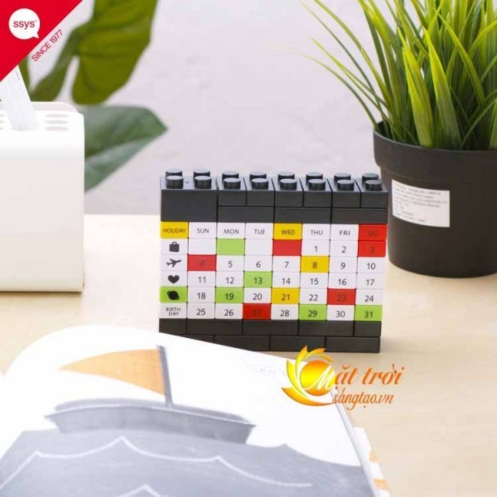 Lịch để bàn lắp ghép LEGO