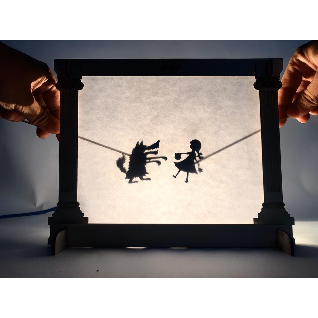 Bộ rạp chiếu múa rối bóng – Set 4 – Rừng Cổ Tích 8 truyện – Đồ chơi giáo dục HUTO
