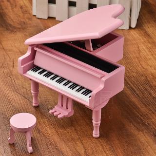 Hộp Nhạc Gỗ Hình Đàn Piano Sáng Tạo Dùng Làm Quà Tặng Sinh Nhật Cho Bạn Gái