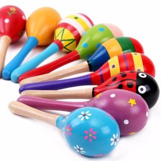 [Đặc biệt] Lục lạc gỗ đầu tròn đồ chơi cho bé khuyên dùng