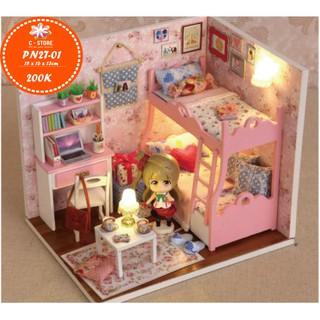 Mô hình nhà búp bê Cute Room – phòng ngủ cho bé gái MOOD OF LOVE (CÓ KÈM BÚP BÊ)