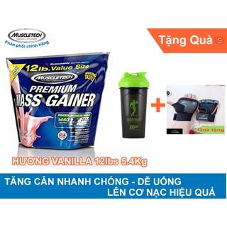 (Có Quà) MuscleTech Premium Mass Gainer 12lbs (5.4kg) – Hương Vani – Tặng Bao Tay Cao Cấp + Shaker