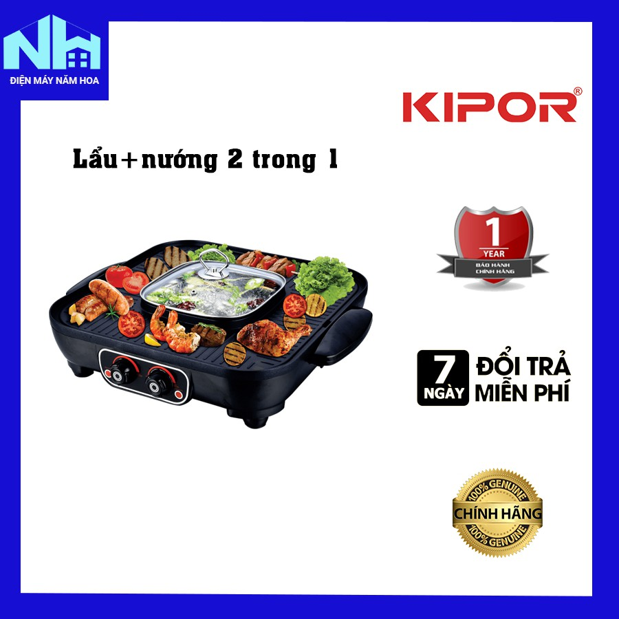 Bếp lẩu nướng Kipor KP-HG4020 2 trong 1