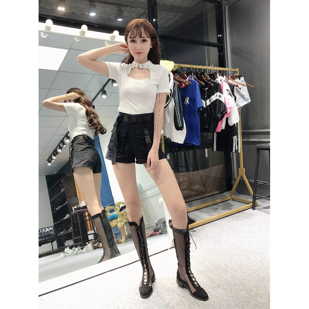 set áo thun ngắn tay và quần yếm phong cách hàn quốc dành cho nữ
