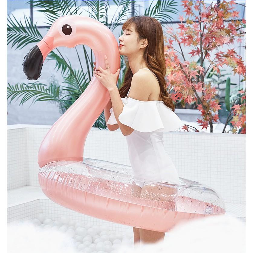 Phao biển người lớn hồng hạc, kỳ lân siêu sang mẫu mới Hè 2019 - Tặng kèm bơm tay