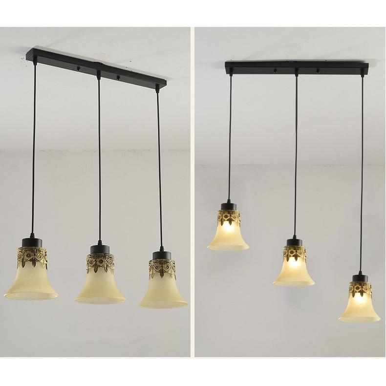 Bộ đèn thả MONSKY KDAD cao cấp kèm bóng LED chuyên dụng và đế ốp trần