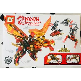 Bộ lego Ninja cưỡi rồng 286 chi tiết