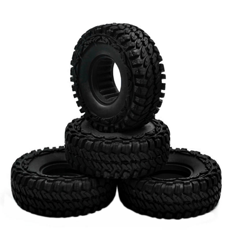 ☽2Pcs 1.9'' Tire Tyres Rubber Tyre for 1/10 RC Crawler Car RC4WD SCX10