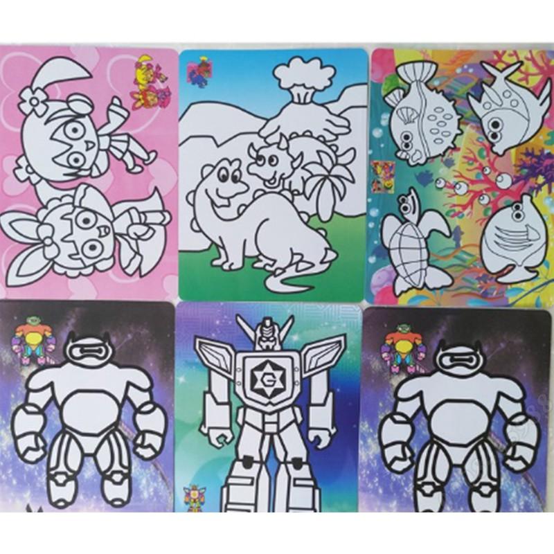 Combo 100 tranh cát khổ a5 20×15 chủ đề bé trai hình dễ thương