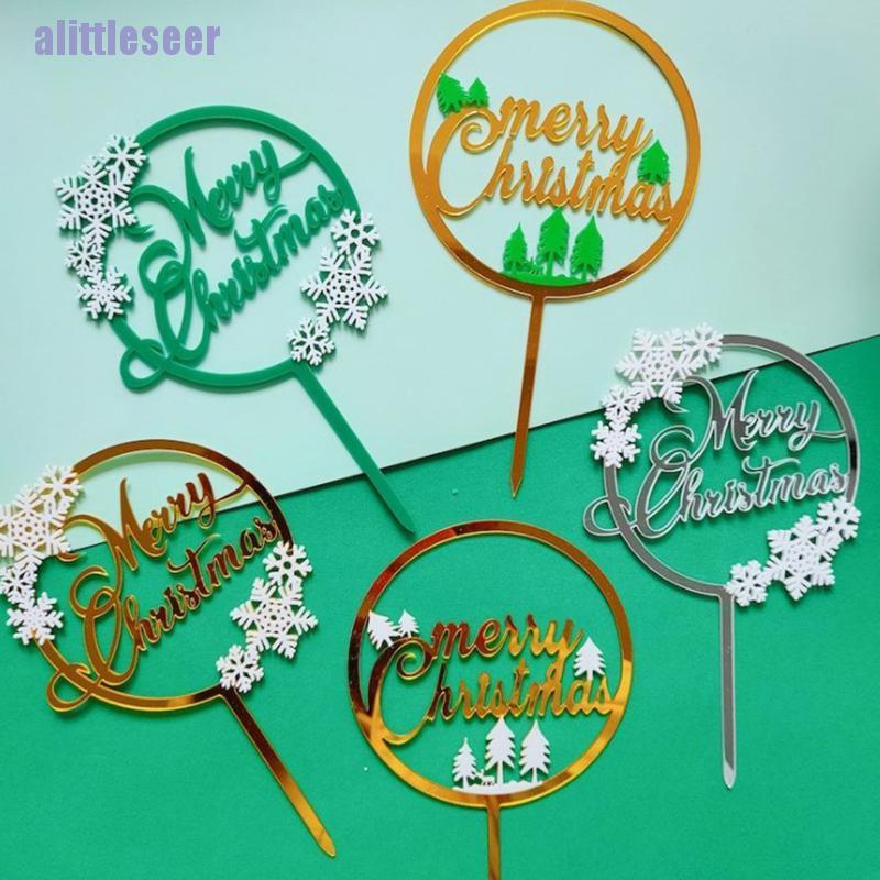 Que Cắm Trang Trí Bánh Hình Hoa Tuyết 5 Kiểu Bằng Acrylic