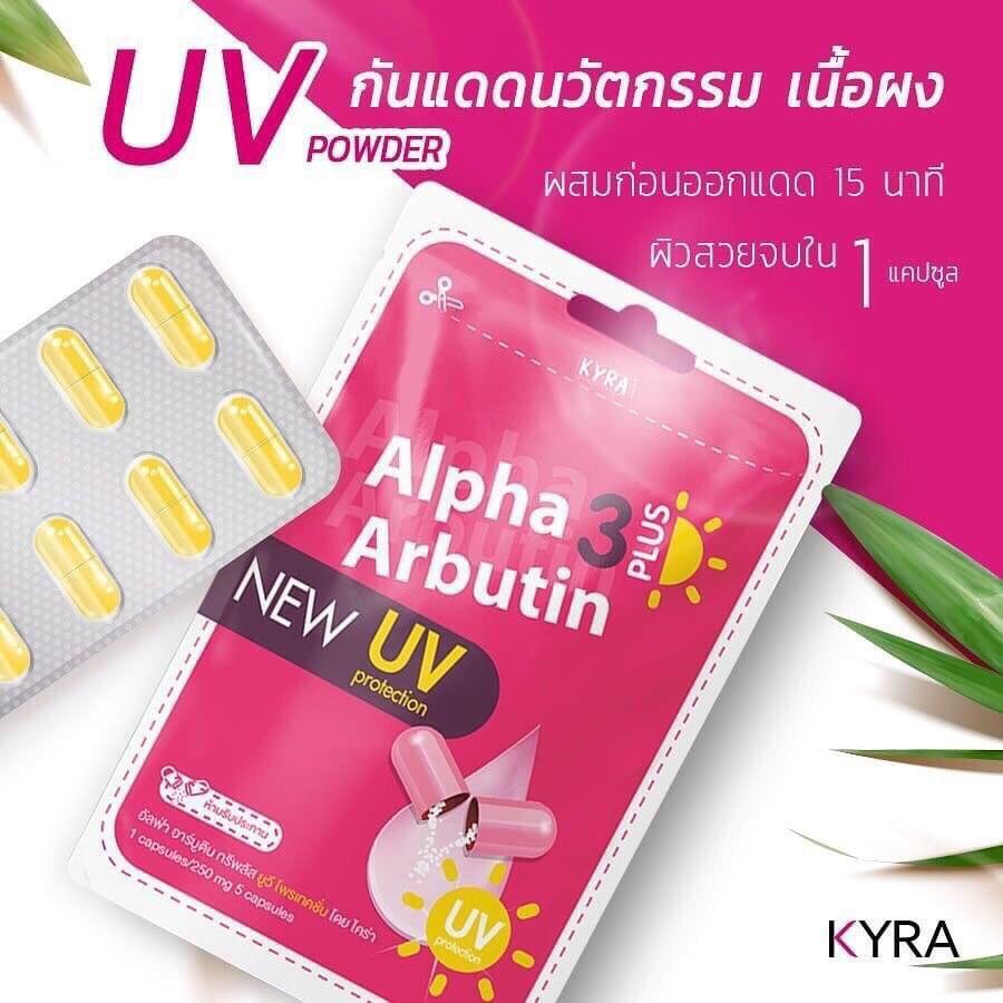 Vỹ 10 Viên kích Trắng ALPHA ARBUTIN 3 Plus NEW UV Thái Lan