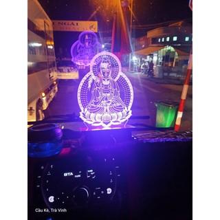 Đèn 3D hình Quan Âm cho xe tải, nguồn 24 volt