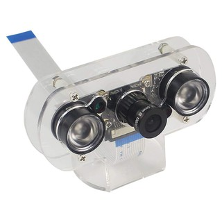5MP Camera ule For Raspberry Pi 4B/3B+/3B/2B Infrared Night Vision 1080P Camera with Holder Case