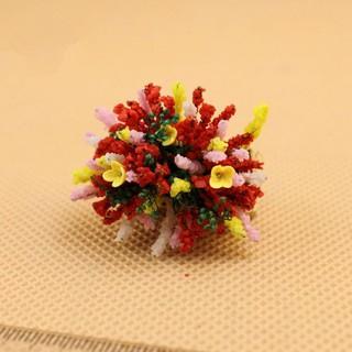 1:12 Scale Dollhouse Mini Plant Decorative Handmade Clay Flower
