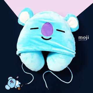 Gấu bông chữ U có mũ idol RM Koya BT21 BTS unoff – Xanh da trời